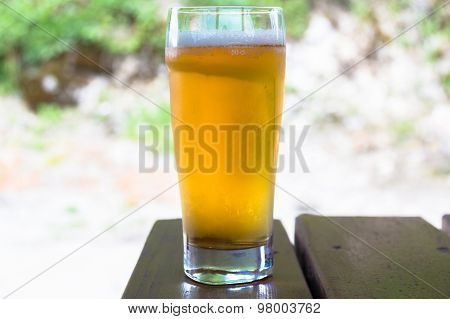 Beer in glass.