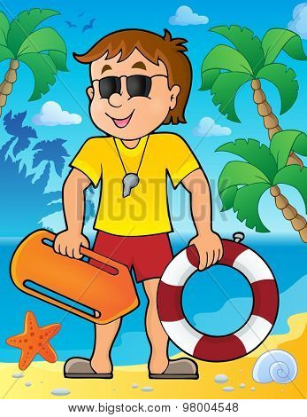 Life guard theme image 2 - eps10 vector illustration.