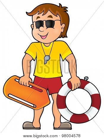 Life guard theme image 1 - eps10 vector illustration.