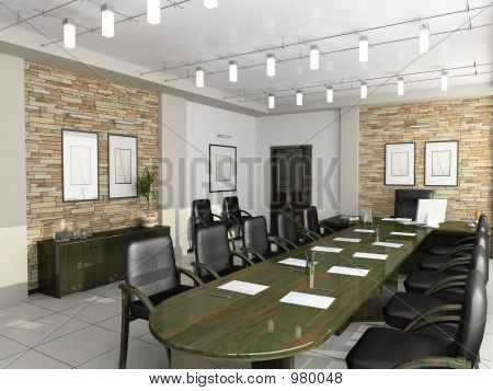 Cabinet Of The Director Furniture Office Negotiations 3D Interio