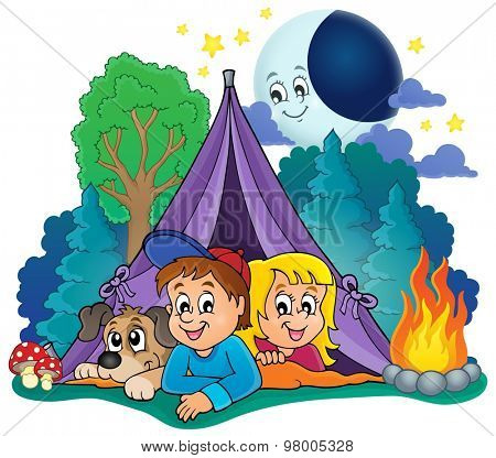 Camping theme image 4 - eps10 vector illustration.
