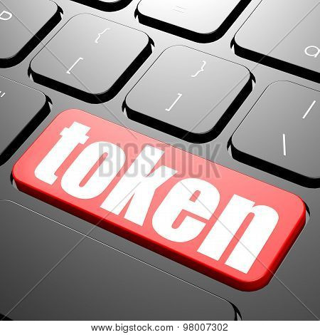 Keyboard With Token Text