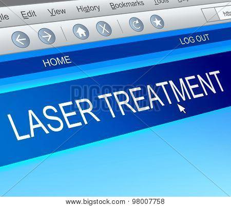 Laser Treatment Concept.