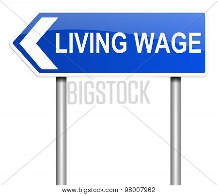 Living Wage Concept.