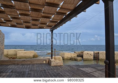 Pergola Overlooking The Mediterranean Sea