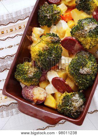 Brocolli And Potato Casserole