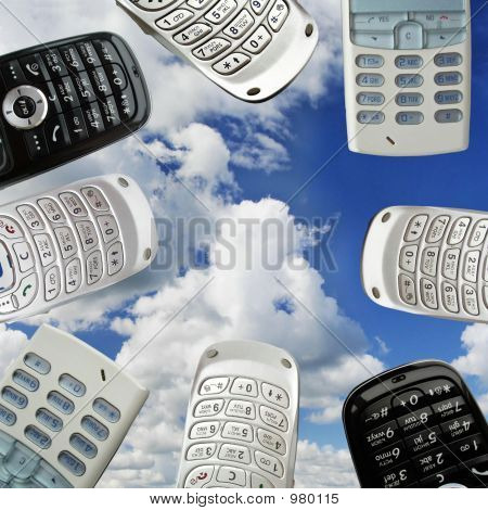group of mobile phones