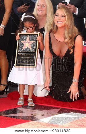 , LOS ANGELES - AUG 5:  Monroe Cannon, Mariah Carey at the Mariah Carey Hollywood Walk of Fame Ceremony at the W Hollywood on August 5, 2015 in Los Angeles, CA