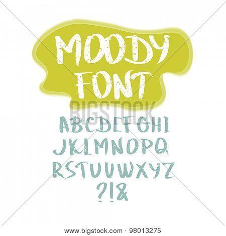 Grunge hand drawn calligraphic font