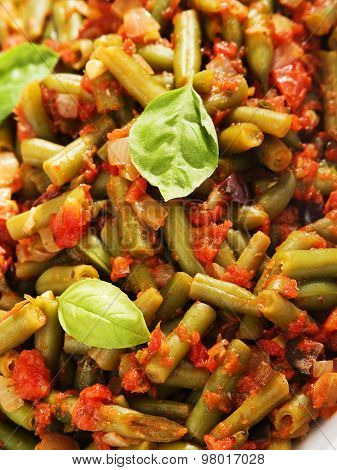 French Beans And Tomato Casserole