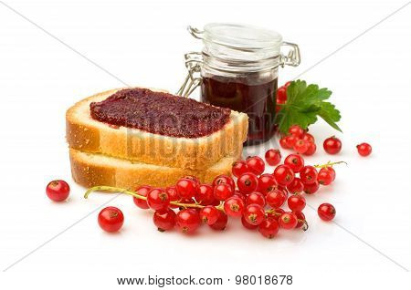 Red Currant Jam And Fresh Berries