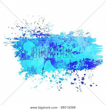 Abstract Background Or Banner. Colorful Watercolor Isolated Design Elements. Vector Illustration. Ea