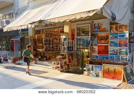 Flea market in Athens.