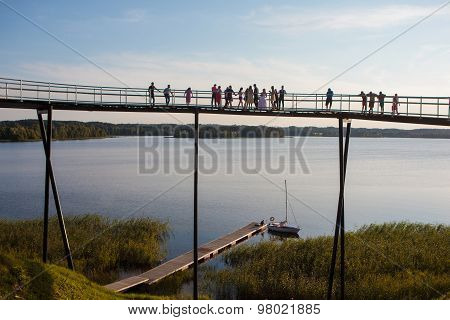 Zarasas Lake Observation Bridge