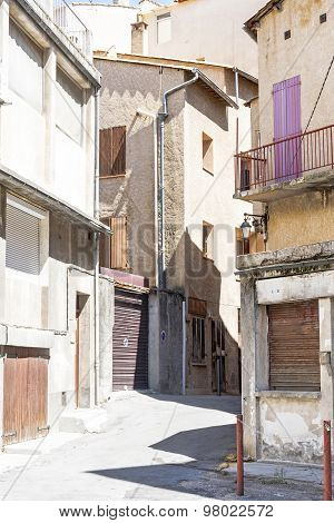 Street In The Old Town Of Manosque, South Of France