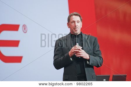 San Francisco, Ca, Sep 22 - Ceo Of Oracle Larry Ellison Makes His Speech At Oracle Openworld Confere