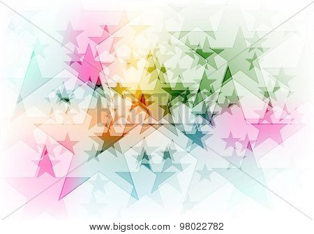 Vibrant colorful shiny stars background. Vector design