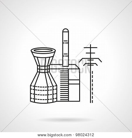 Thermal power plant vector icon