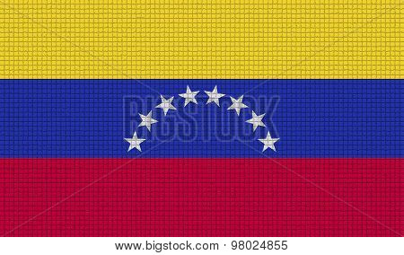 Flags Venezuela With Abstract Textures. Rasterized