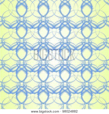 Seamless Vector Background With Blue Icicle Like Pattern
