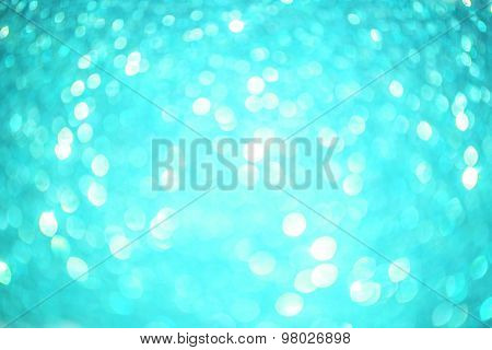 Aqua Blue Sparkles Background