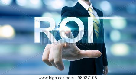 Businessman Pointing At Roi