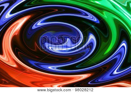 Abstract The Mixing Of Paints