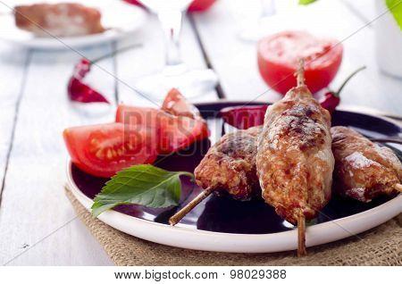 Minced lamb kebab