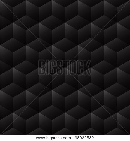 3d seamless cube background dark