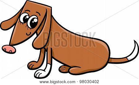 Female Dog Cartoon Illustration