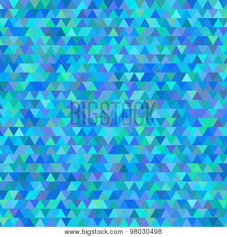 Blue Background Abstract Mosaic Triangles