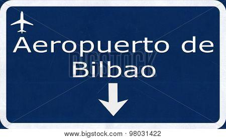 Bilbao Spain Airport Highway Sign