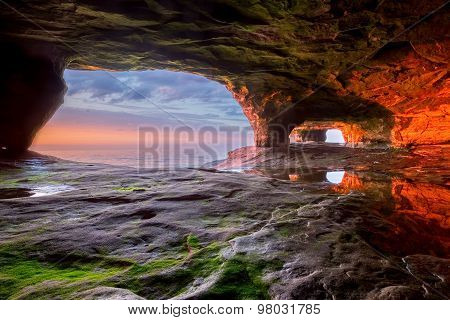 Sea Cave On Lake Superior
