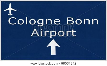Koln Bonn Germany Airport Highway Sign