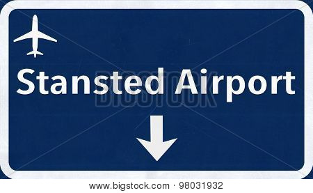 London Stansted England United Kingdom Airport Highway Sign