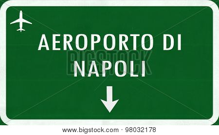 Napoli Italy Airport Highway Sign