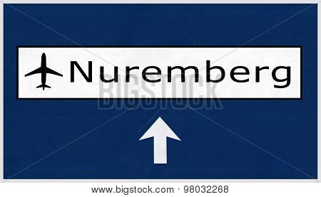 Nurnberg Germany Airport Highway Sign