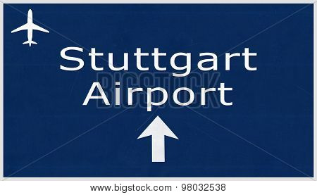 Stuttgart Germany Airport Highway Sign