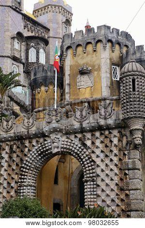 Palacio Da Pena In Sintra, Portugal