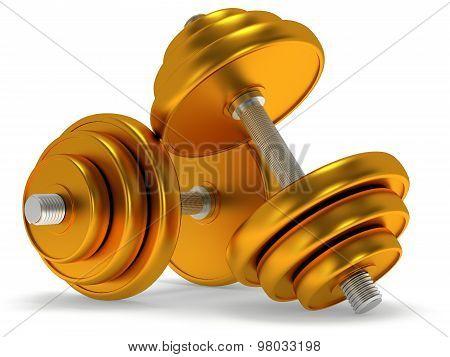 Gold Dumbbells
