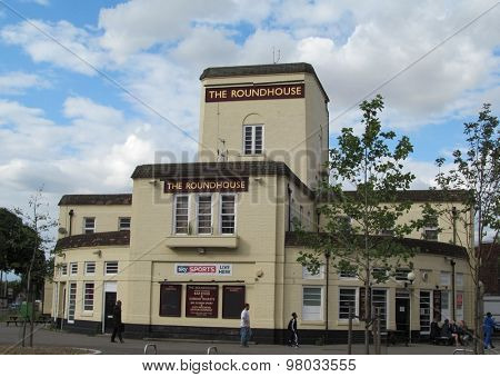 LONDON- 3 AUG: The famous Roundhouse pub in dagenham, london, will close down on aug 29th. in the 70s the venue hosted bands like, pink floyd, queen, led zepplin and many others. LONDON, 3 AUG, 2015