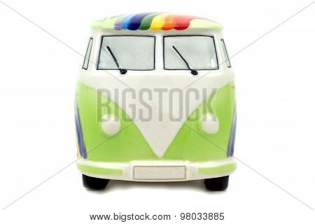 The green vintage van