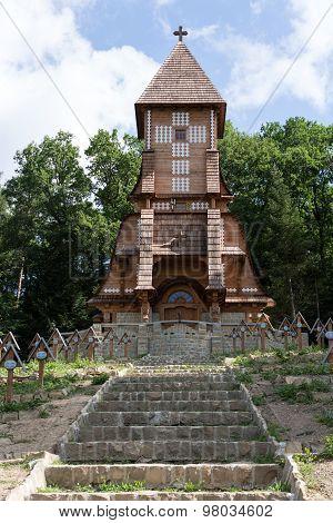 LUZNA, GORLICE, POLAND - JULY 11, 2015: The old military cemetery form first world war in Luzna Pustki- battle of Gorlice - Poland
