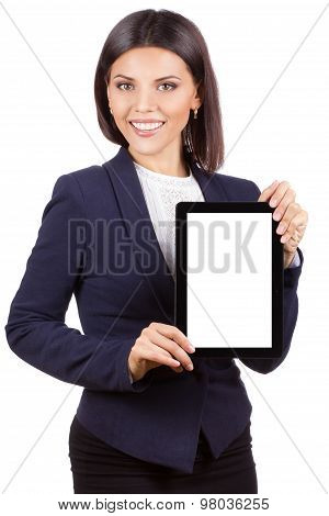 Portrait Of Young Business Woman With Tablet