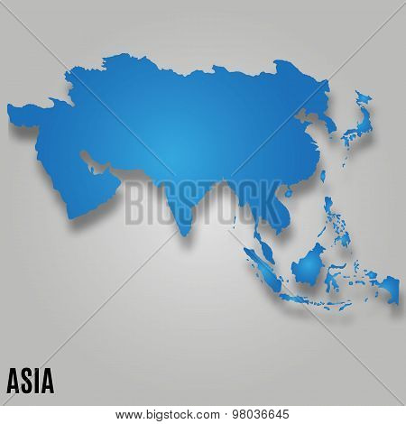 Asia Map Card