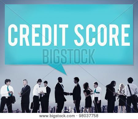 Credit Score Financial payment Rating Budget Money Concept