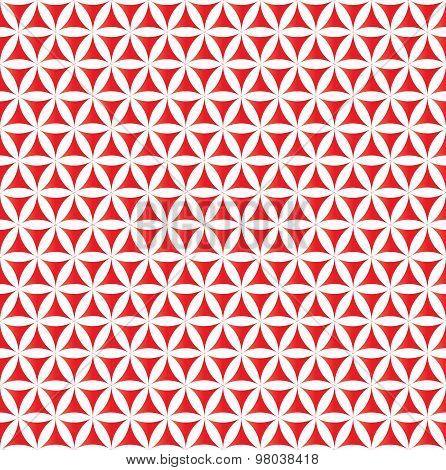 red flower of life sacred geometric seamless background
