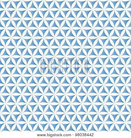 blue flower of life sacred geometric seamless background