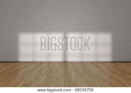 White Wall Of Empty Room With Parquet Floor