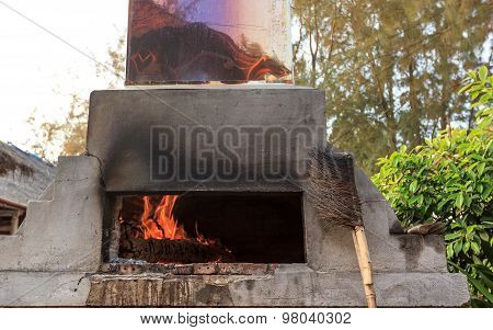 Stone Oven With Chimney